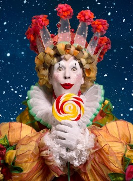 The dancer Andrew Giday as the King of Candyland in The Nutcracker