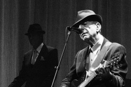Portrait of the singer-songwriter Leonard Cohen