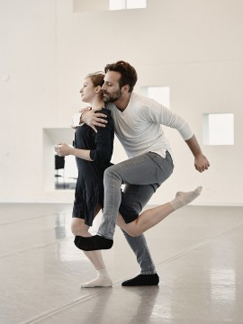 Jérémy Galeano and Véra Kvarčáková in rehearsal for DOMA.