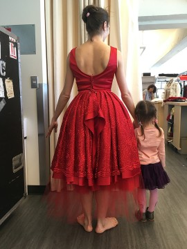 Dancer Anya Nesvitaylo and her daughter in costume