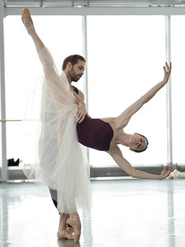 Our dancers Anya Nesvitaylo et Raphael Bouchard in rehearsal