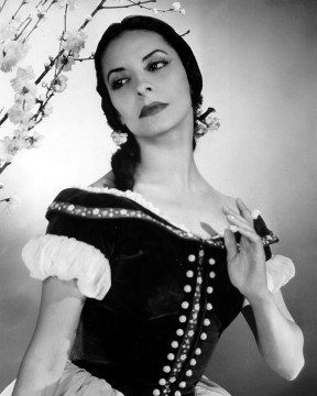 Portrait of the choreographer Alicia Alonso