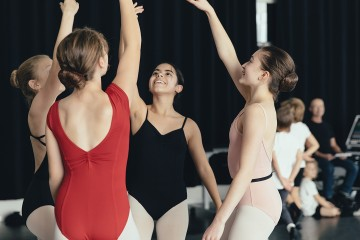 Young dancers in rehearsal