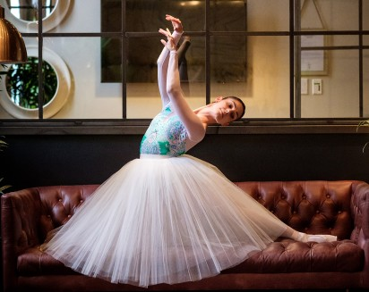 Dancer Sahra Maira in a tutu