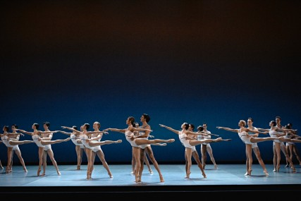 The dancers of the Grands Ballets performing Beethoven's 7th Symphony