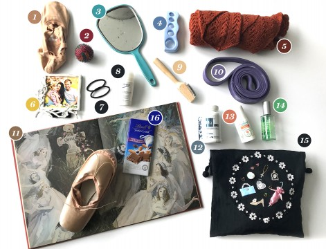The objects in Anya Nesvitaylo's bag, dancer at Les Grands Ballets
