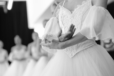 Les Grands Ballets' dancers in rehearsal for Giselle