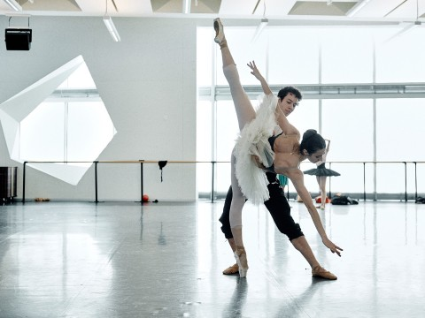 James Lyttle and Anya Nesvitaylo in rehearsal