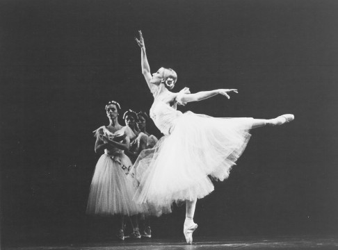 Dancer Annette Av Paul onstage in Giselle in 1984