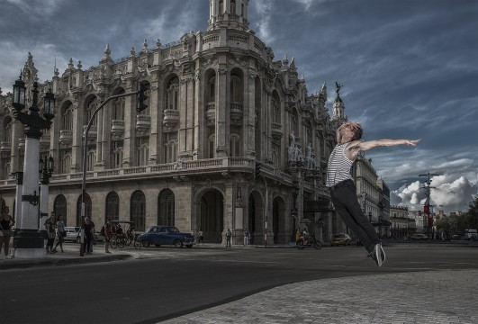 Dancer Hervé Courtain in Cuba