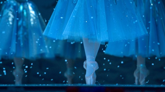 The Snowflakes on pointe for The Nutcracker