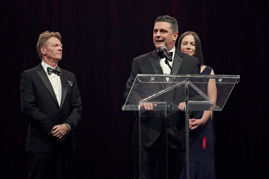 Claude Gagnon (BMO Financial Group), Sylvain Corbeil (TD Commercial Banking) & Nadine Renaud-Tinker (RBC Royal Bank) co-presidents of the 2019 Annual Gala