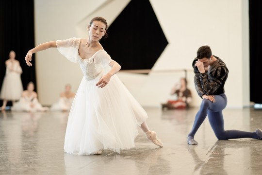 Our dancers Yui Sugawara & Alessio Scognamiglio in rehearsal for Giselle