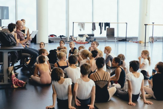 Children of The Nutcracker in rehearsal with André Laprise