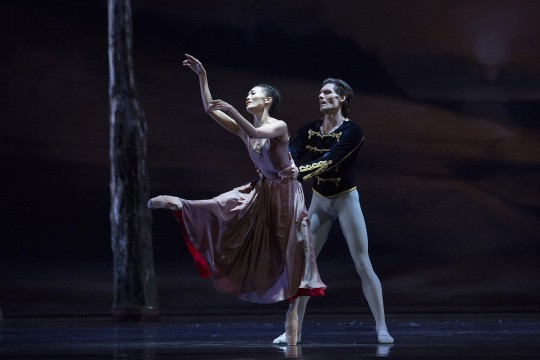 Dancers Yuka Ebihara and Vladimir Yaroshenko onstage in Swan Lake