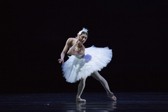 Dancer Chinara Alizade onstage in Swan Lake