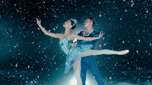 Dancers Myriam Simon and Chen Sheng in the video advertisement for The Nutcracker 2018