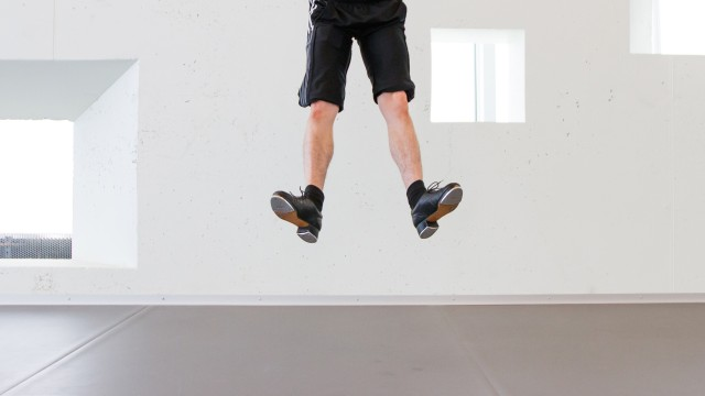 Dancer Matthew Cluff tap dancing in our STUDIOS