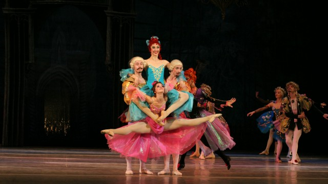 Moment on stage during the ballet Cinderella by the National Ballet of Ukraine