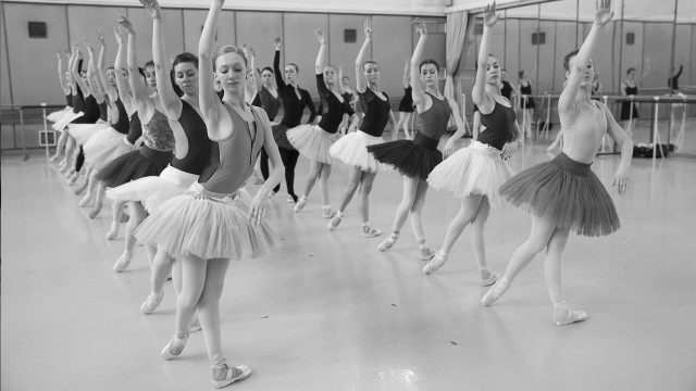 Dancers of the National Polish Ballet in rehearsal