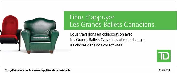 TD is proud to support Les Grands Ballets